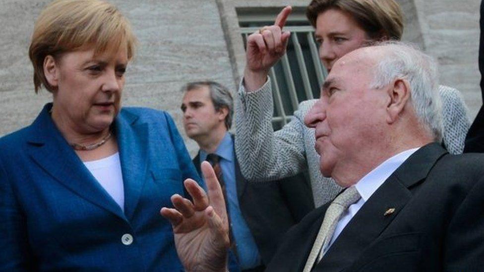 Angela Merkel & Helmut Kohl