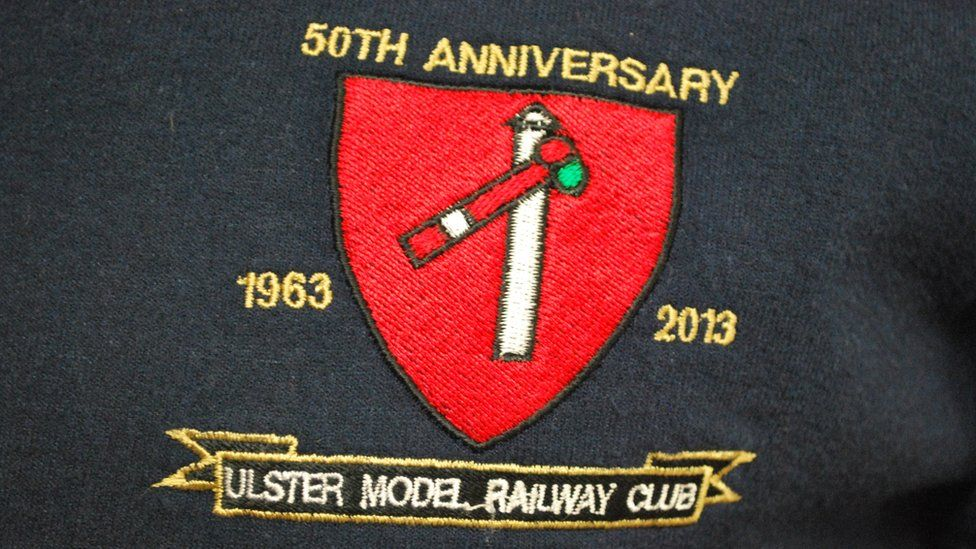 Ulster Model Railway Club logo on jumper