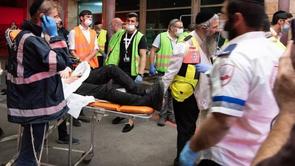 Israel crush: Witnesses tell of people 'thrown up in the air' thumbnail