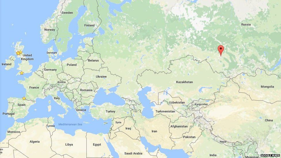 Siberia on Google Maps