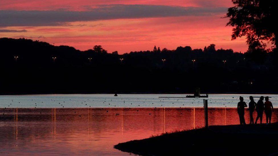 Sunset over Motherwell