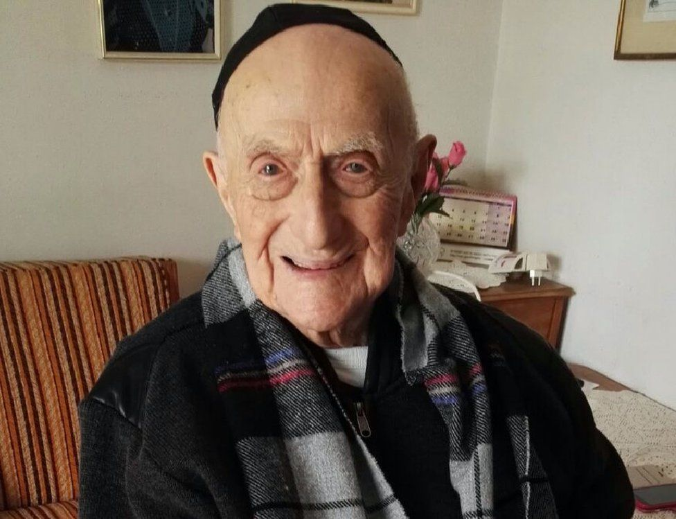 This file photo taken on January 22, 2016 shows Yisrael Kristal sitting in his home in the Israeli city of Haifa
