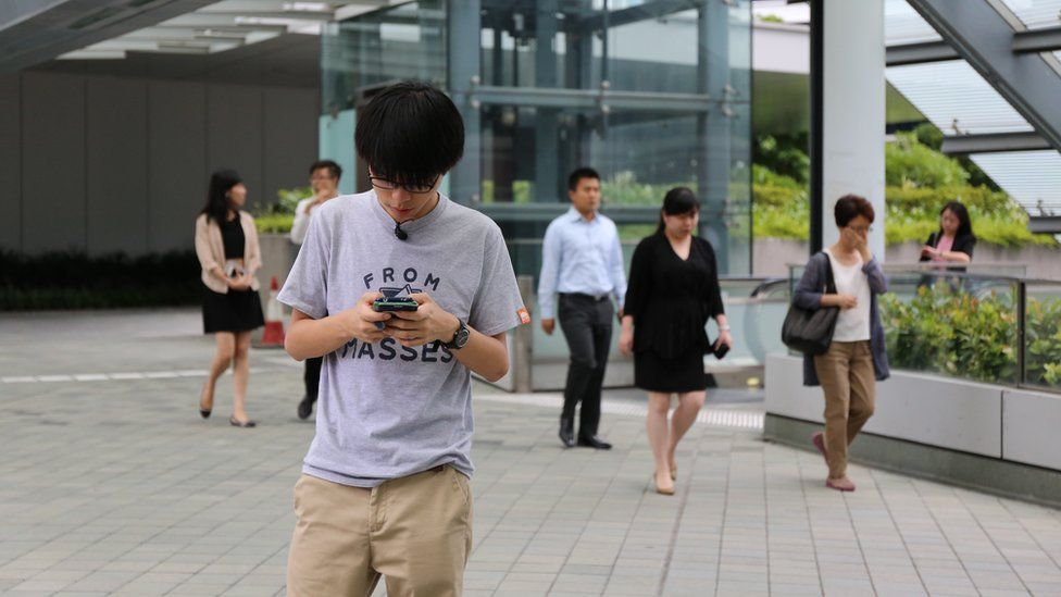 Picture of Joshua Wong in Hong Kong July 2015