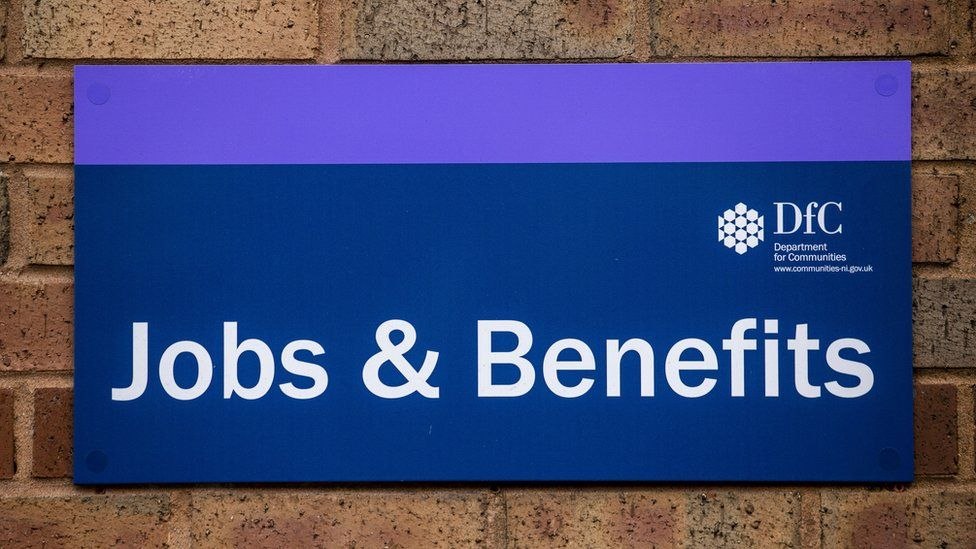 Jobs and benefits sign