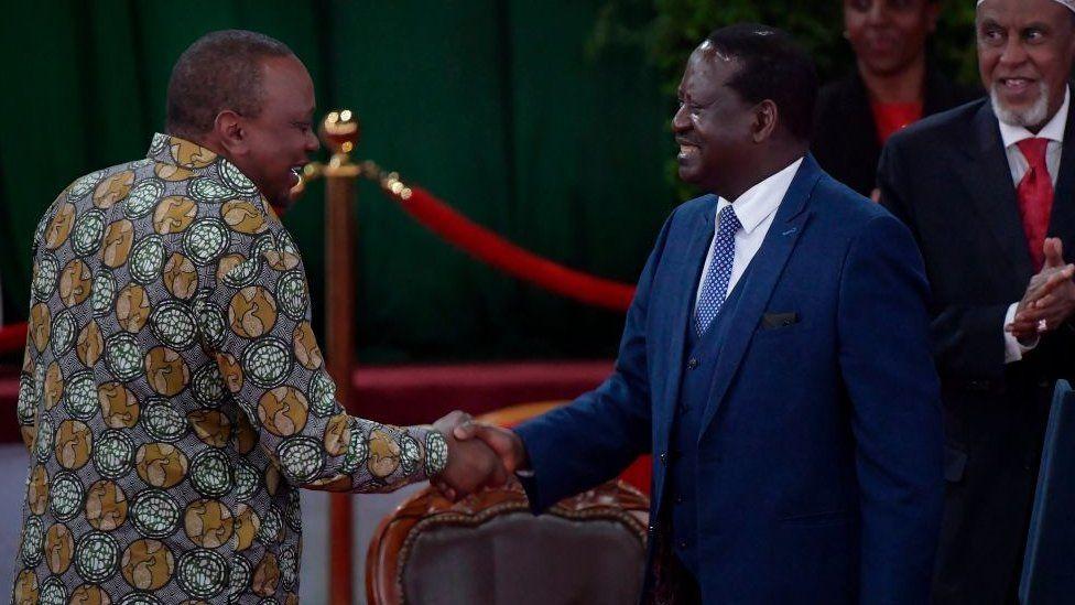 President Uhuru Kenyatta and Raila Odinga