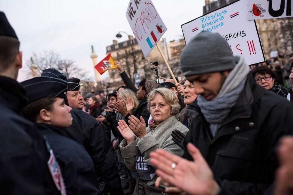 Paris: national unity rally - 11 January, 2015.