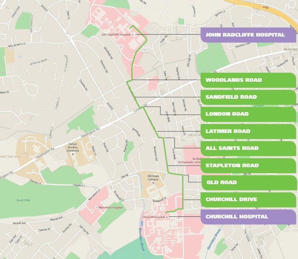 Oxford hospitals pipeline route