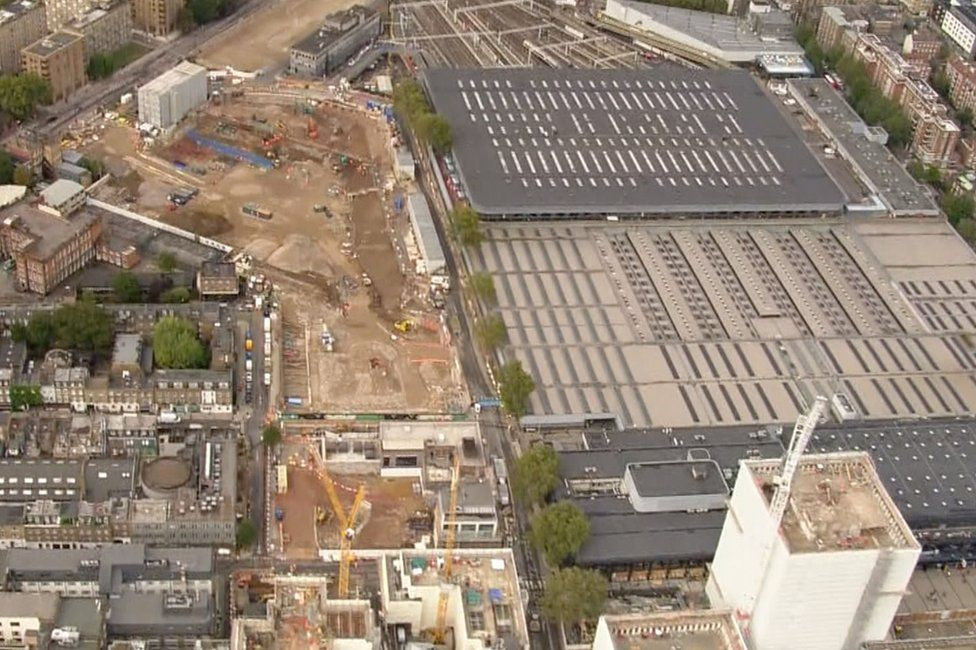 Aerial of Euston