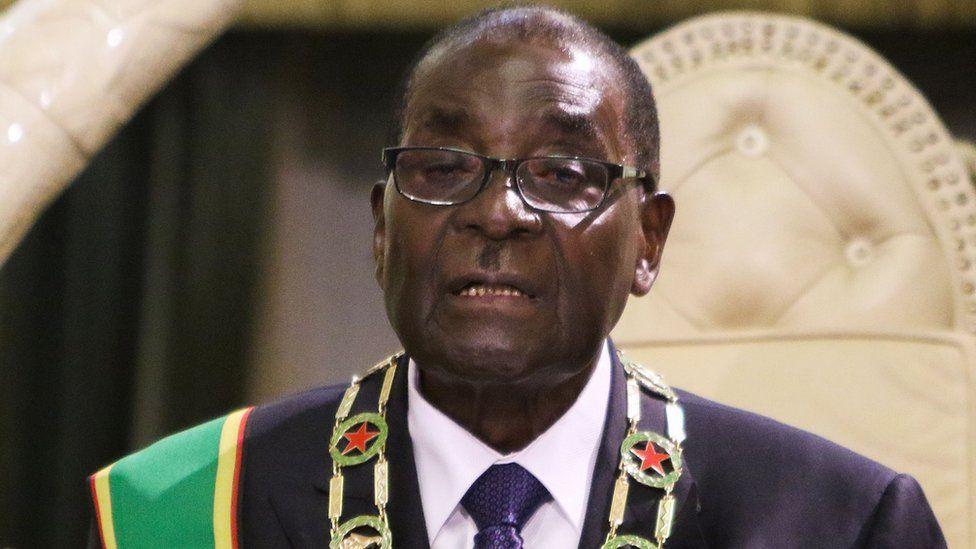 Robert Mugabe on 15 September 2015