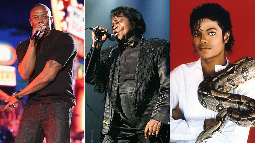 Dr Dre, James Brown and Michael Jackson