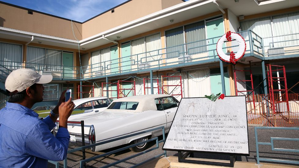 The motel where Dr King was killed is now a museum