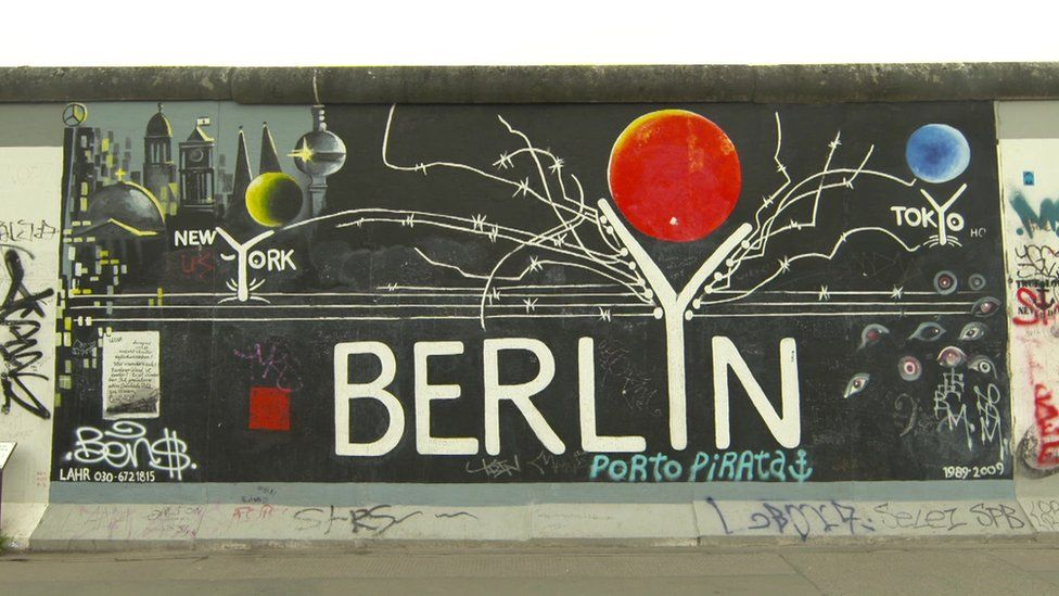 The Berlin wall (file picture)