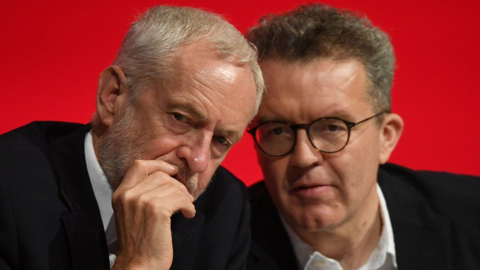 Jeremy Corbyn and Tom Watson at the 2018 Labour Party annual conference