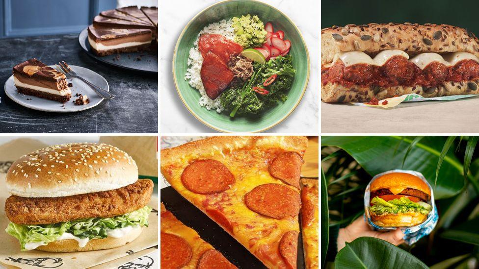 Veganuary products from Caffe Nero, Wagamama, Subway, KFC, Pizza Hut and Leon