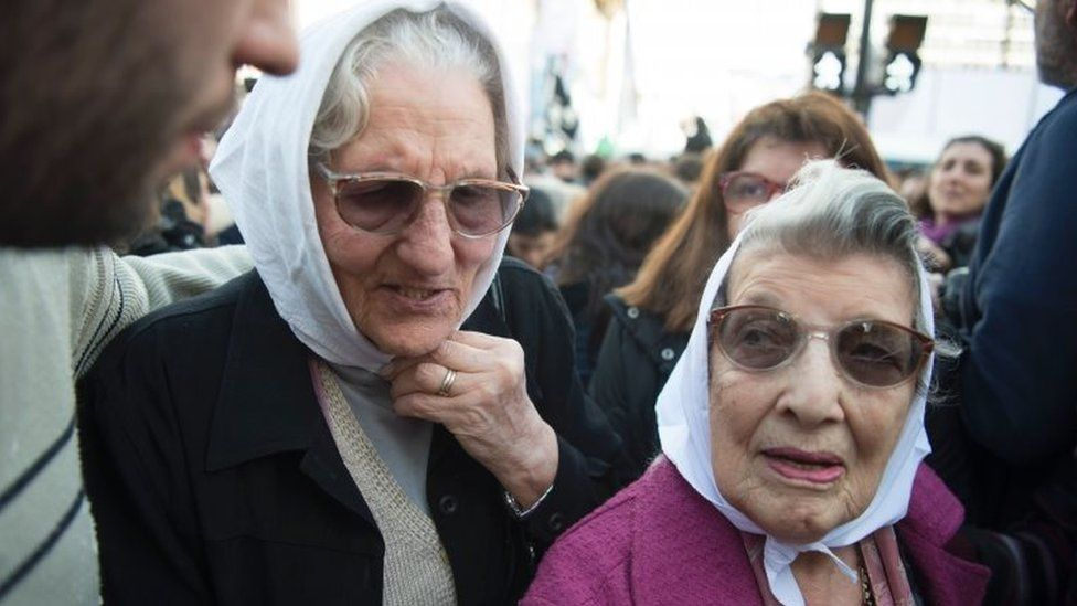 Members of the Mothers of Plaza de Mayo group march in Buenos Aires. Photo: 11 August 2016
