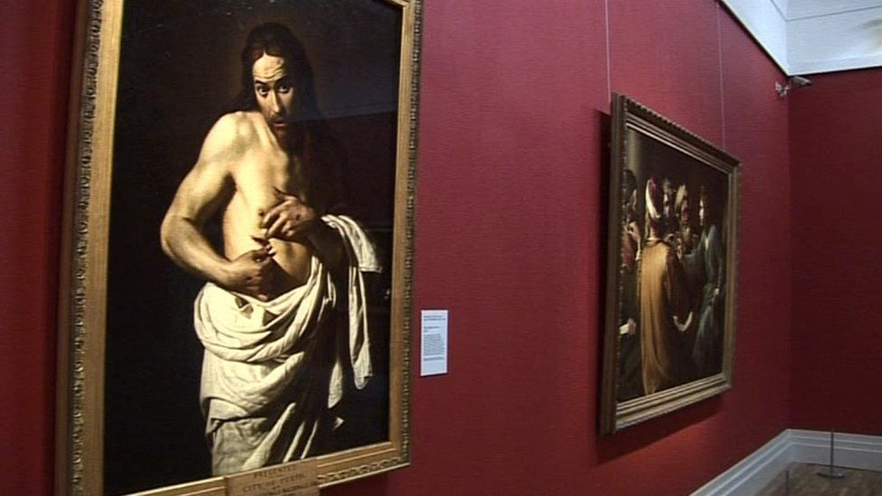 Caravaggio painting of Christ