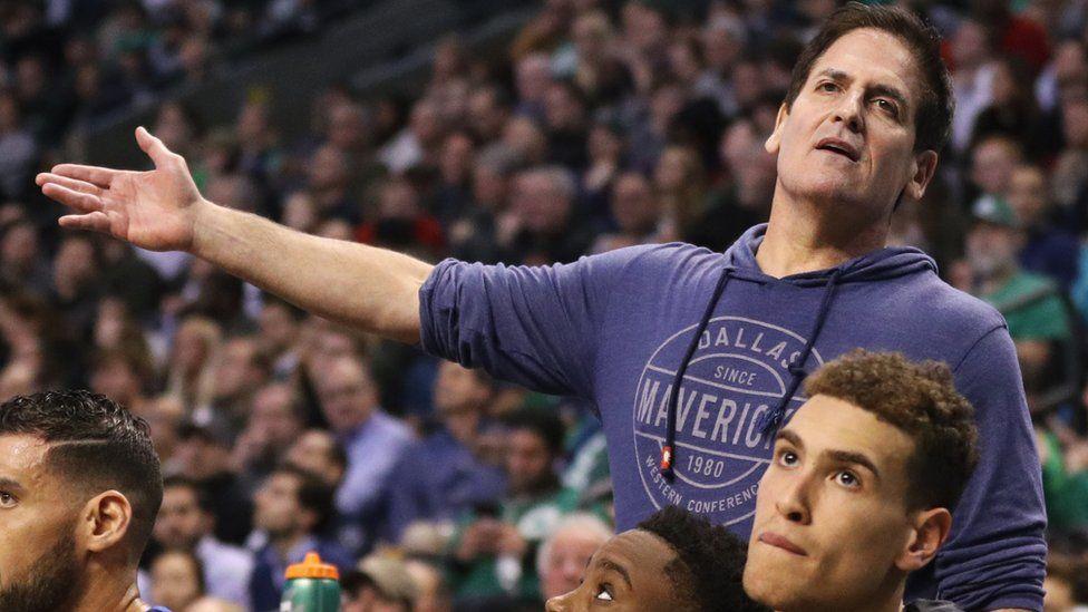 Mark Cuban at a Mavericks game