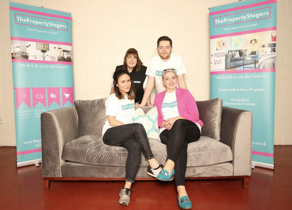 Liv Conlon (right) with her mum Ali Roy and brother Jack Conlon (back) and employee Claire Hedderly (left)