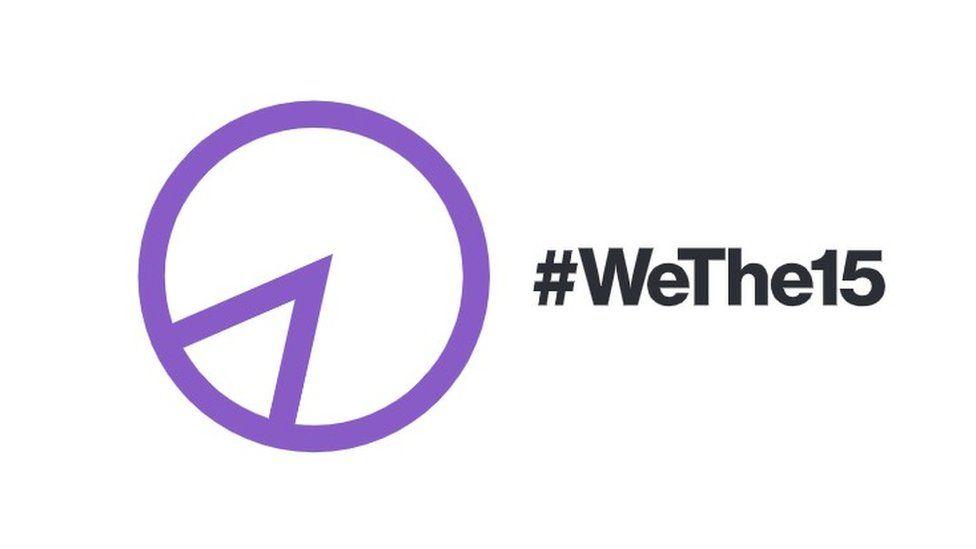 WeThe15 logo and hashtag