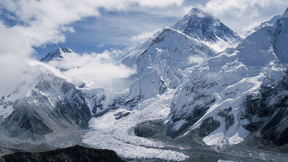 Khumbu glacier in the Everest region