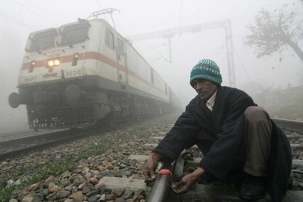 Indian railway worker file picture