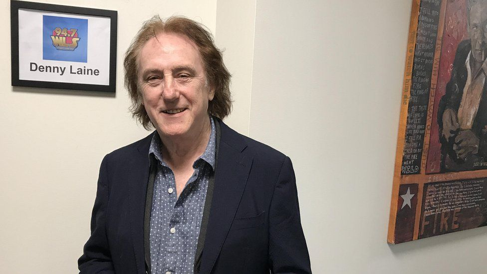 Denny Laine (at his home in the US) wrote Mull of Kintyre with McCartney
