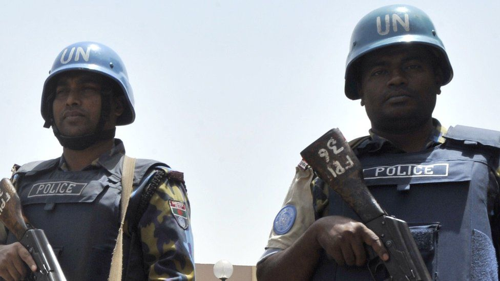 UN police officers - archive shot