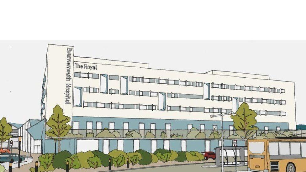 Artist's impression of new hospital building