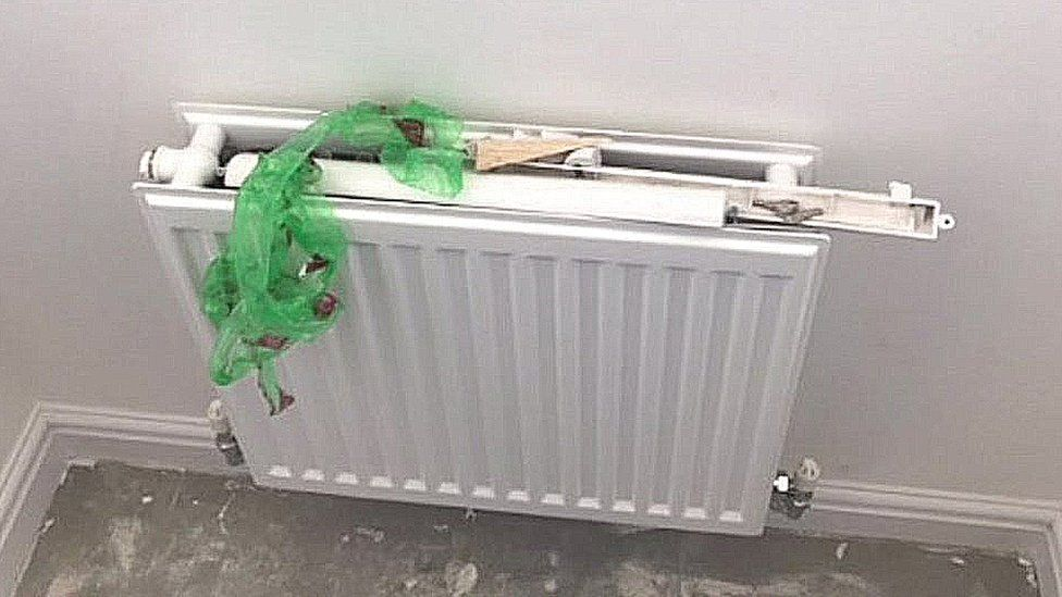 Radiator still to be finished