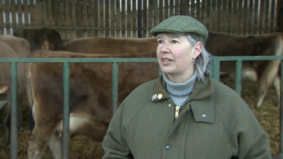 Dairy farmer Claire Bland