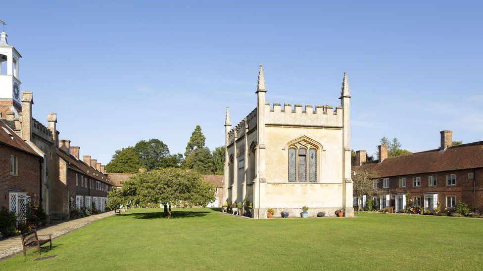 Historic almshouses Somerset hospital, Froxfield, Wiltshire,