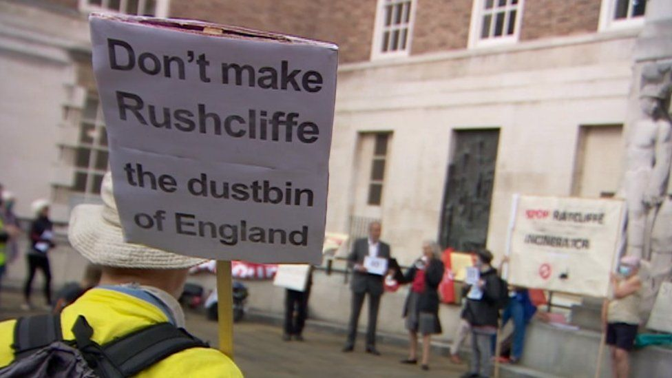 Protest outside Nottinghamshire County Council