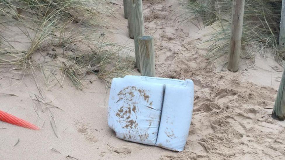 Sandy cushion on a beach