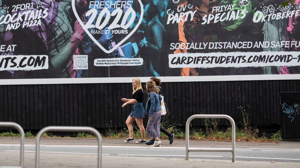 Students in Cardiff
