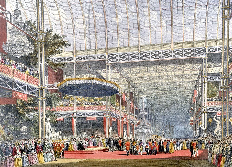 Queen Victoria opens the 1851 Great Exhibition