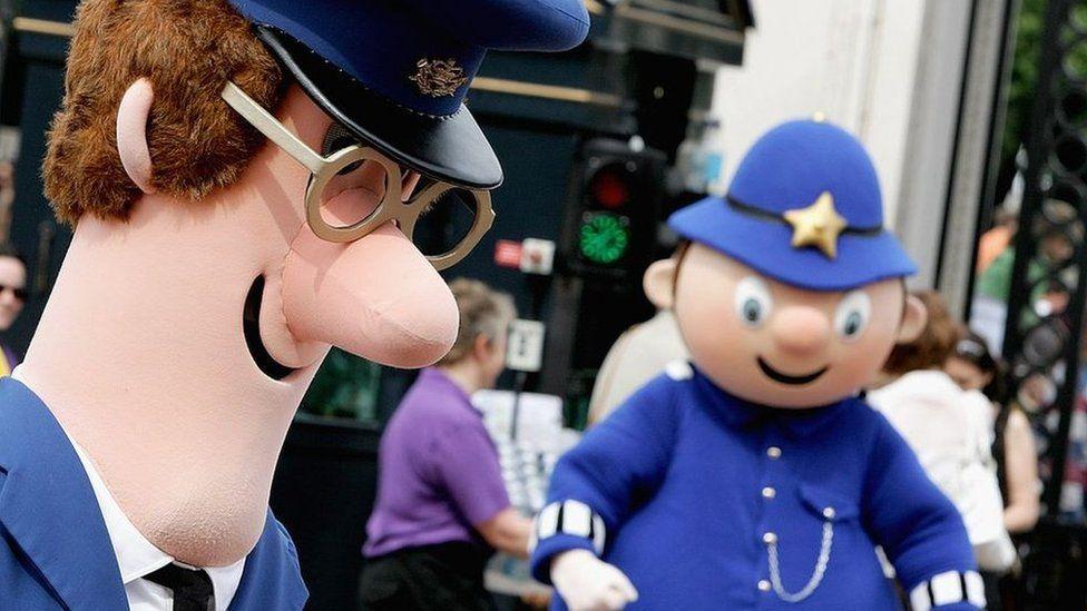 Children's cartoon characters Postman Pat and Mr Plod