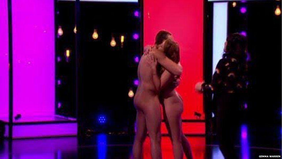 Gemma hugging her eventual partner James