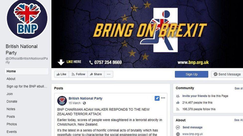 BNP Facebook page
