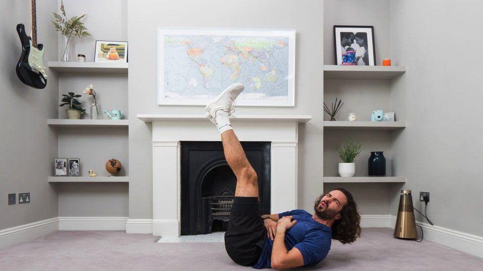 Joe Wicks in his living room
