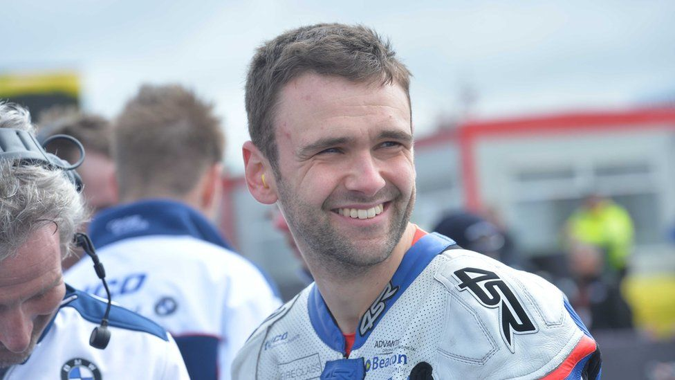 William Dunlop during Tuesday's practice for the North West 200 Road races 2015