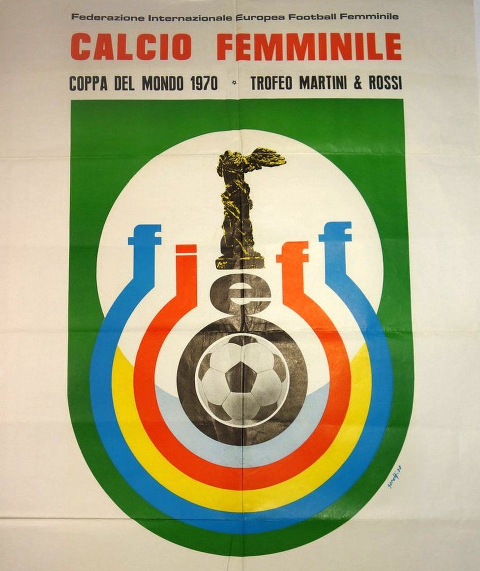 Poster from the 1970 World Cup in Italy