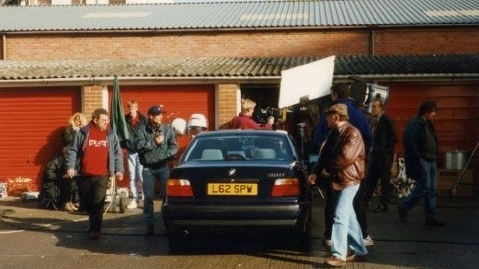 Filming Only Fools and Horses scene