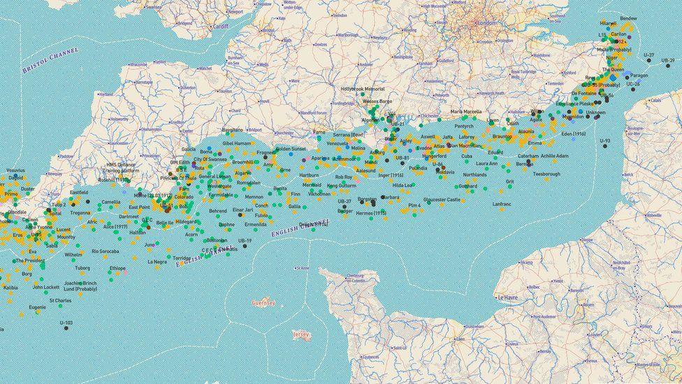 The Forgotten Wrecks map