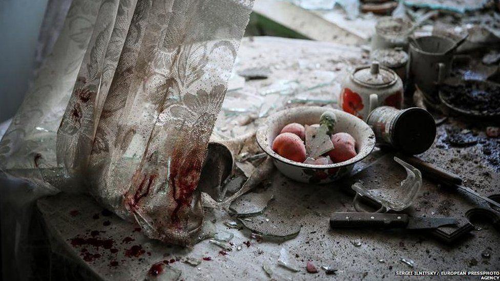 Damaged kitchen