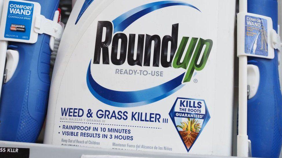 Botella de Roundup