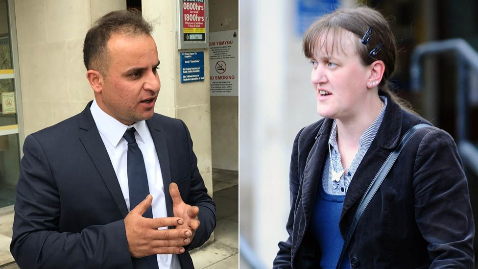 Dilshad Hamid and Katherine Howells leave the coroner's court