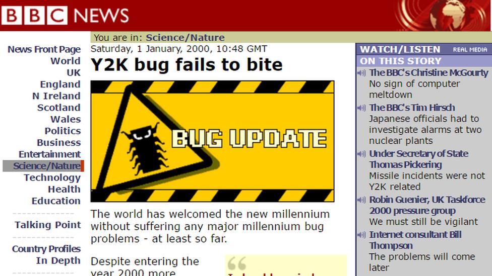 BBC report of millennium bug