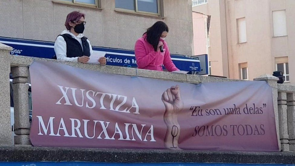 Protesters campaign for justice for the women in Cervo