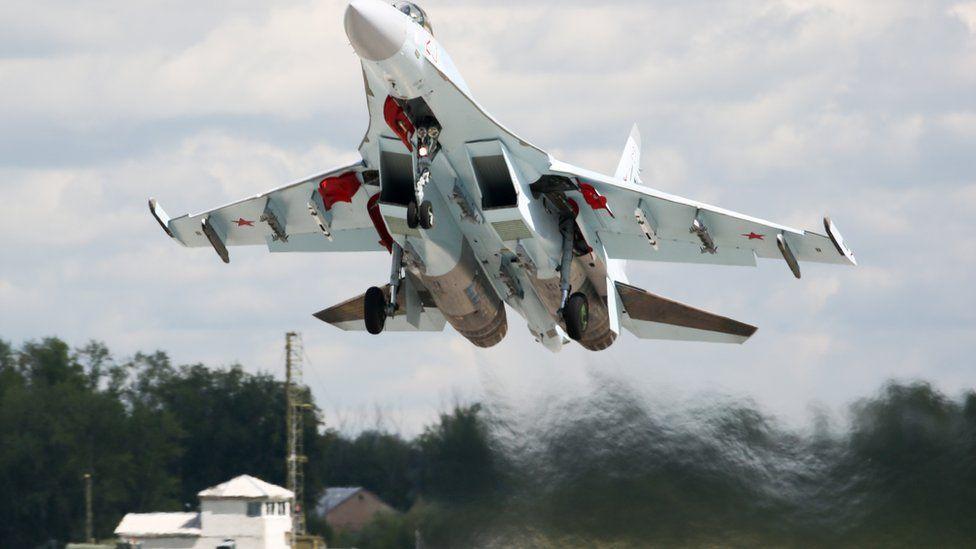 Russian-built Su-35 fighter jet
