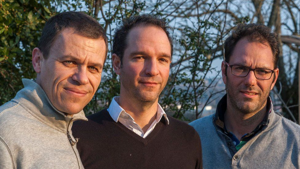The three founders of La Parole Liberée